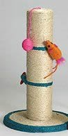 Classic Products Sisal Scratching Post with Interactive Mice, My Pet Supplies
