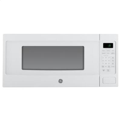 GE PEM31DFWW Profile 1.1 Cu. Ft. White Countertop Microwave (Low Profile Built In Microwave compare prices)