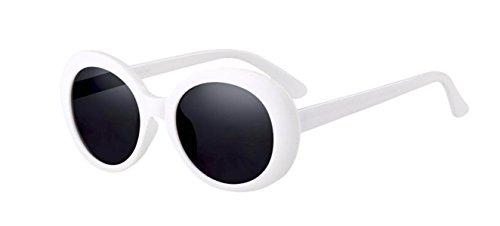 Hommes Femmes Lunettes Ovales Lunettes De Soleil New Hip-Hop Lunettes De Soleil Cadre Blanc white