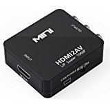 HDMI to RCA, [Upgraded] HDMI AV Video Audio Composite PAL / NTSC Converter