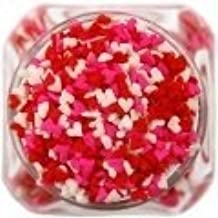 Edible Confetti Sprinkles Cake Cookie Cupcake Quins Valentines Day Mini Hearts 8 Ounces