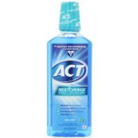 ACT Restoring Mouthwash, Cool Splash Mint, 18-Ounce Bottle (Pack of 4) by ACT