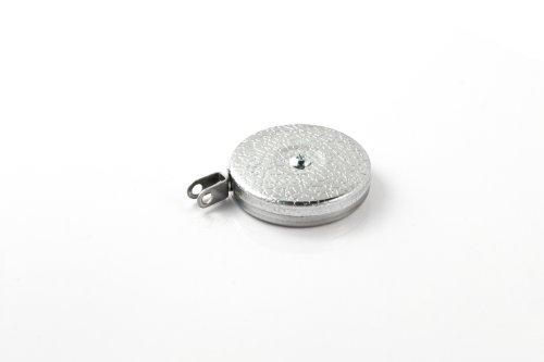 Key-Bak Industrial retráctil carrete con 121,9cm Cable de acero inoxidable, Plain Back, cromado Front, grandes giratoria
