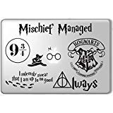 Harry Potter laptop decal set. Customizable for all macbook pro and other laptops (Macbook Vinyl Harry Potter)