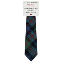 Murray Of Atholl Tartan (Boys Clan Tie All Wool Woven in Scotland Murray of Atholl Ancient Tartan)