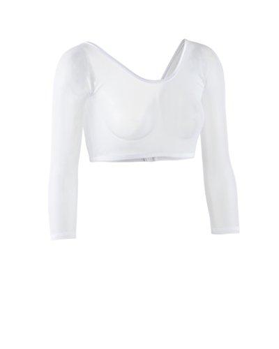 Sleevey Wonders Women's Basic 3/4 Length Slip-on Mesh Sleeves XL White by Sleevey Wonders (Image #1)