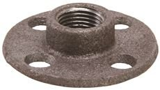 NATIONAL BRAND ALTERNATIVE 1MFF07 2480682 Black Malleable Floor Flange, 1-1/4'' by National Brand Alternative