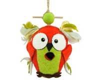DZI Handmade Designs DZI484030 Crazy Owl Felt Birdhouse