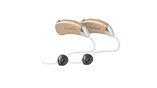 Soundtastic SWAN - Hearing Amplifier Device - Small in Size. Big Boost in Sound! 10 Channels of Layered Noise Reduction, Free Maintenance Kit and Free Storage Case! (Pair L/R, Beige)…