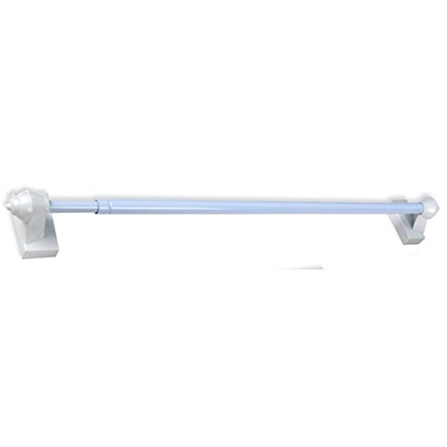 Pemberly Row Magnetic Curtain Rod Set in White