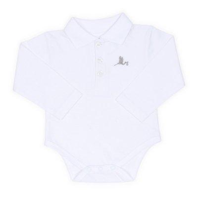 Polo Body de bebé BebeDeParis- Blanco- Talla 3-6 meses: Amazon.es ...
