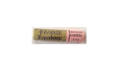 Parker Eversharp Writefine Erasers 2 Erasers Made in USA by Eversharp (Image #1)