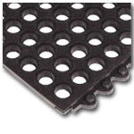 Wearwell 3 X 3 Ft.,22.7 Lbs.,Black Nitrile Rubber,24/Seven 572 Mat