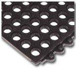Wearwell 3 X 3 Ft.,22.7 Lbs.,Black Nitrile Rubber,24/Seven 572 Mat by Wearwell