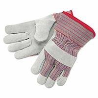 Industrial Standard Shoulder Split Gloves, X-Large, Leather, Red and Gray Fabric (12 (Economy Shoulder Split Work Gloves)