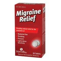 Natra Bio Migraine Relief Tablet - 60 per pack -- 6 packs per (Natra Bio 60 Tabs)