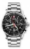 Victorinox-Swiss-Army-Silver-Stainless-Band-Black-Dial-Mens-Watch-241443