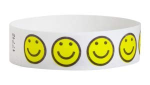 3/4 Tyvek Pattern Wristbands - Pack of 1000 - Secure Paper-Like Admission Band for Events by myZone Printing (Fireworks)