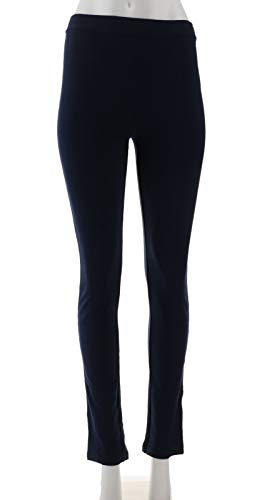 Susan Graver Weekend French Knit Comfort Waist Pull-On Pants Navy XS New A278903 from Susan Graver