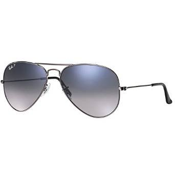 New Ray Ban RB3025 004/78 Gunmetal/Blue Gary Gradient 55mm Polarized - 004 Rb3025