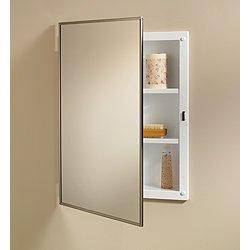 Metal Cabinet Medicine Framed (Jensen 84018CH Basic Styleline Recessed Mount Medicine Cabinet)