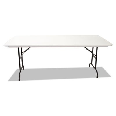 Blow Molded Resin Top Folding Tables, 60w x 30d x 22-32h, Gray Granite, Sold as 1 Each by Generic