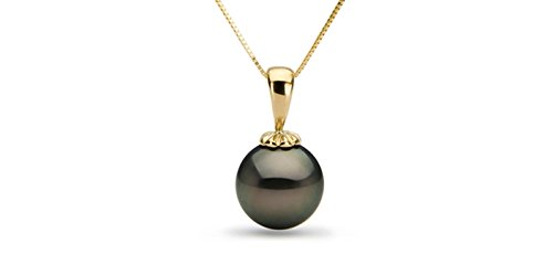14k-Tahitian-Cultured-Pearl-Pendant-Top-Gem-Quality-Black-South-Sea-18-inch-chain-White-Yellow-Gold