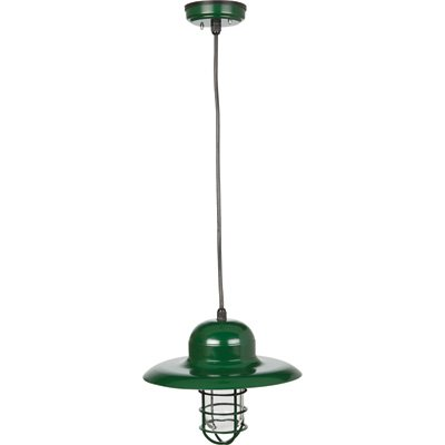 NPower Hanging Pendant Sconce Barn Light - 13in. Dia., Forest Green