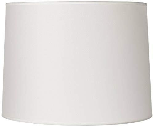 Hardback White Drum Lamp Shade 13x14x10 (Spider) - Brentwood (Drum White Lamp Shade)