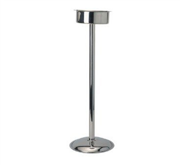 Wine Bucket Stand, Pipe Style, Narrow Base, Stainless Steel (6 Pieces/Unit) by Winco