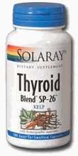 Solaray - Mélange thyroïde Sp-26 varech, 100 capsules