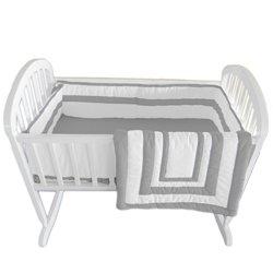 Babykidsbargains Double Hotel Cradle Bedding, Grey, 18'' x 36'' by babykidsbargains