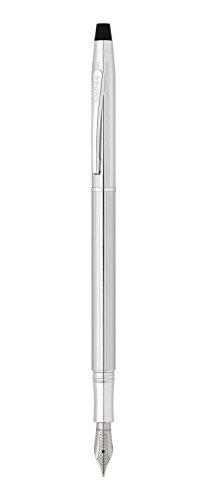 Cross Classic Century Lustrous Chrome Fountain Pen with Medium (AT0086-74MS)