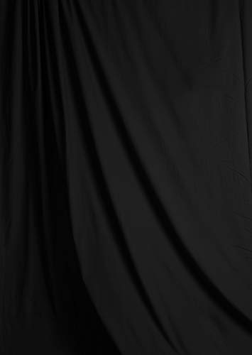 (Savage Solid Muslin Background - Black, 10' W x 12' H)