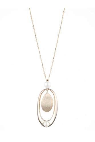 Carolee Women's 36-Inch Sculptural Large Double Drop Pendant Necklace with Pearls