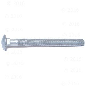 Hard-to-Find Fastener 014973148171 Carriage Bolts, 5/8-11 x 7, Piece-25 (25 Galvanized Carriage Pieces Bolt)