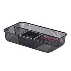 Brenton Studio(TM) Metro Mesh Small Drawer Organizer, Black (Office Depot Metro Mesh)