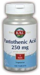 KAL - Acide pantothénique, 250 mg, 100 comprimés