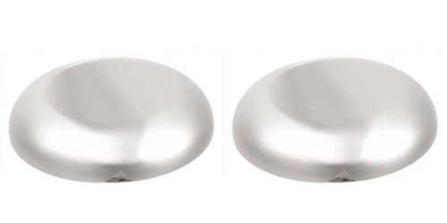 (Lot of 2 Stainless Steel Roadmaster Bell Horn Covers 6)