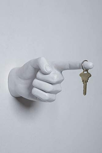 Interior Illusions One Finger Pointing Hand Wall Hook
