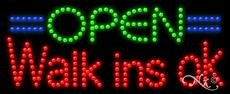 Open Walk ins ok - Ultra Bright LED Sign - 11'' x 27'' by American Sign Letters