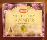 Precious Lavender – Case of 12 Boxes, 10 Cones Each – HEM Incense From India