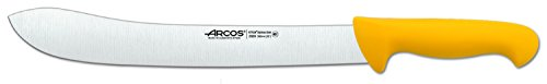 Arcos 12-Inch 300 mm 2900 Range Curved Butcher Knife, Yellow
