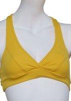 Sujetador deportivo, Running, color amarillo-Caju de bandera de Brasil Amarillo - amarillo