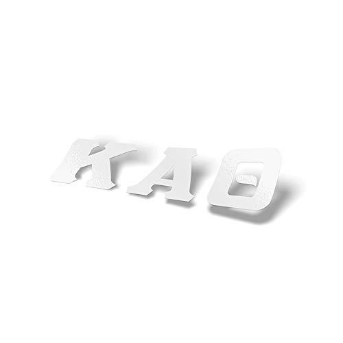 Kappa Alpha Theta Sorority White Letter Sticker Decal Greek 2 Inches Tall for Window Laptop Computer Car Theta