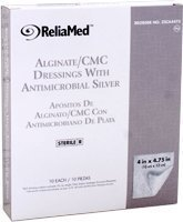 Reliamed Silver Alginate/cmc Dressings, 4