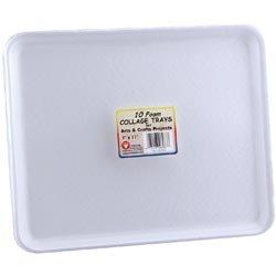 Bulk Buy: Hygloss (3-Pack) Foam Collage Trays 9in. x 11in. 10/Pkg White H6983 ()