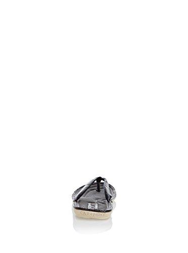 CAFE' NOIR sandali uomo nero pelle AG293