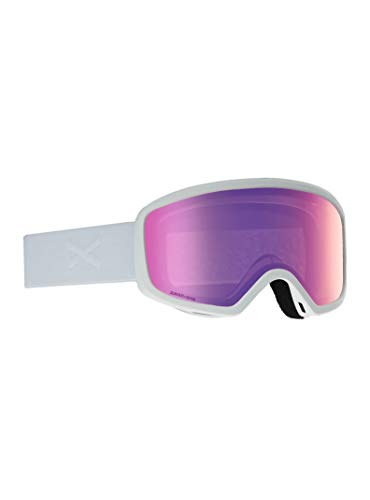 Anon Women's Deringer Goggle with MFI Mask, White Frame Sonar Pink Lens