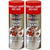 - Dupli-Color DE1620 Chevrolet Orange Engine Enamel with Ceramic 12 oz. Aerosol (2 PACK)